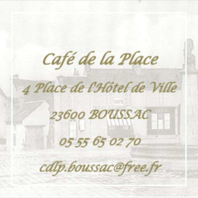 café de la place Boussac