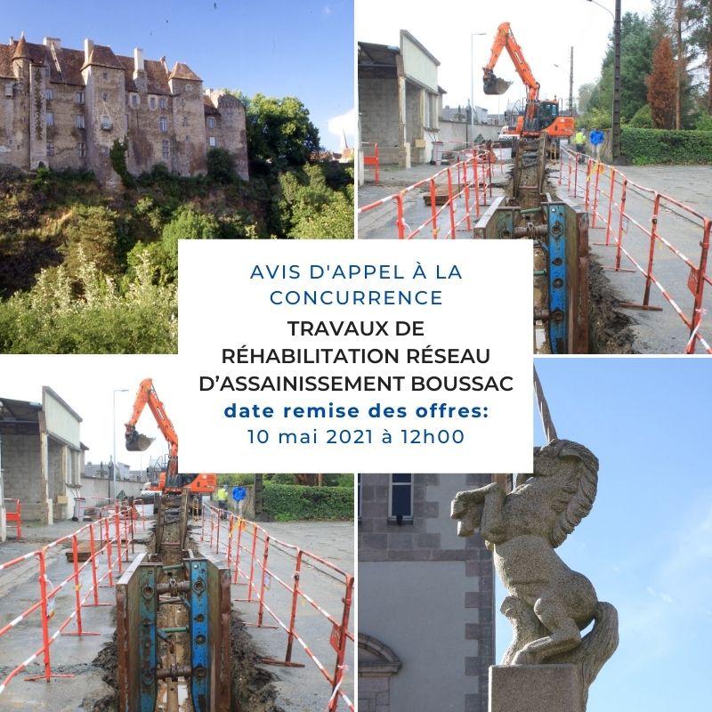 Travaux de réhabilitation du réseau d'assainissement du lotissement ine à Boussac (2)
