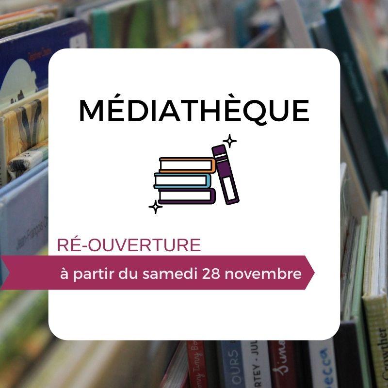 LA MEDIATHÈQUE - RÉOUVRE AU PUBLIC!