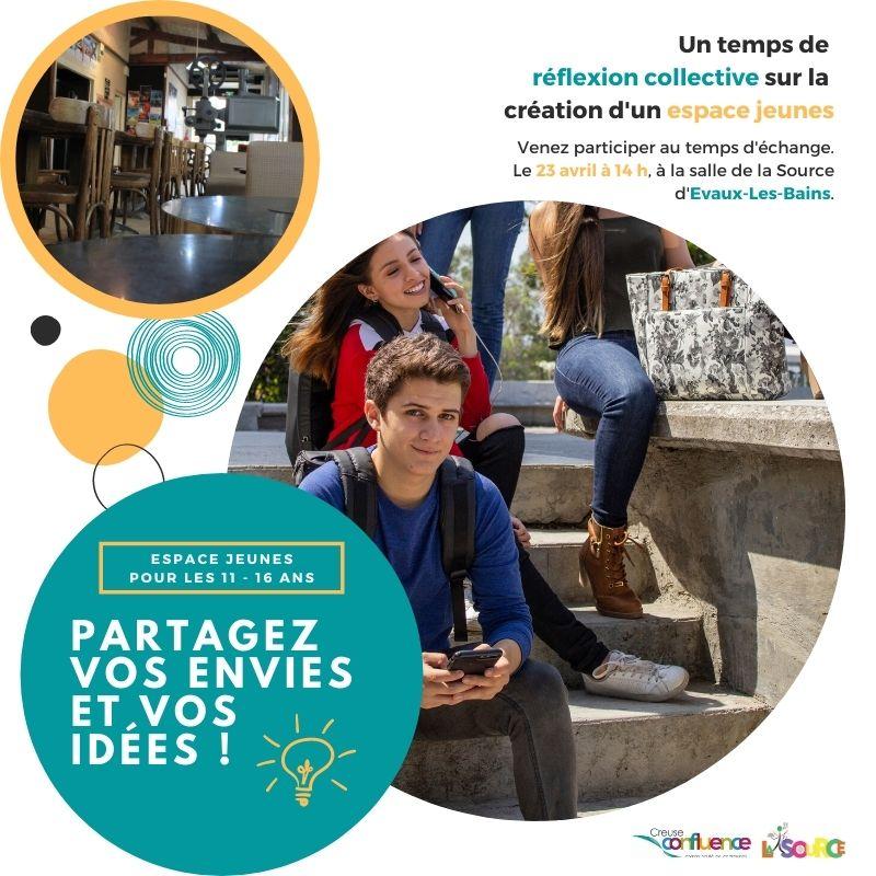 """une réflexion collective sur la création d'un """"Espace Jeunes"""""""