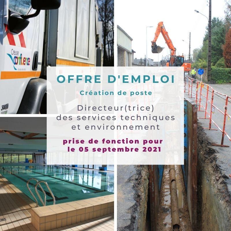 Offre d'emploi : Directeur(trice) des services techniques et de l'environnement